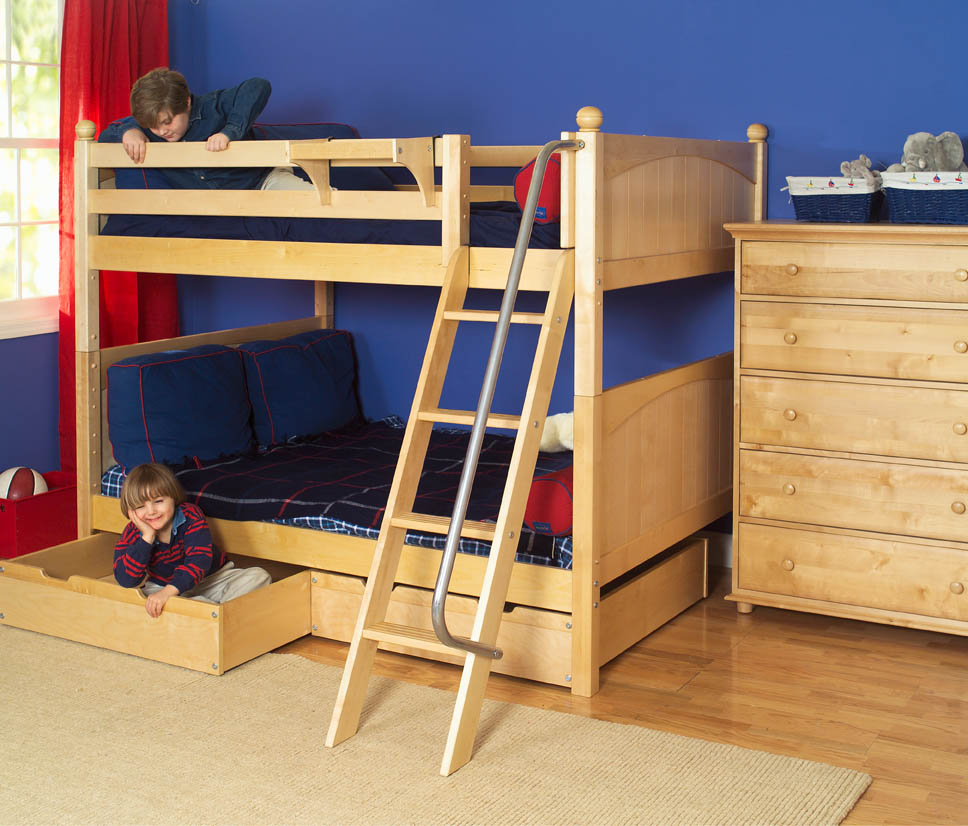 Natural Boys' Bunk Bed by Maxtrix Kids (700.0)