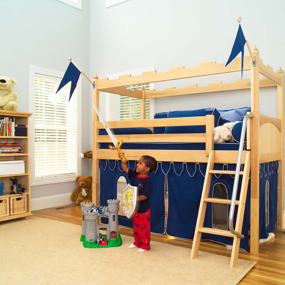 Camelot Castle Low Loft Bed by Maxtrix Kids 390