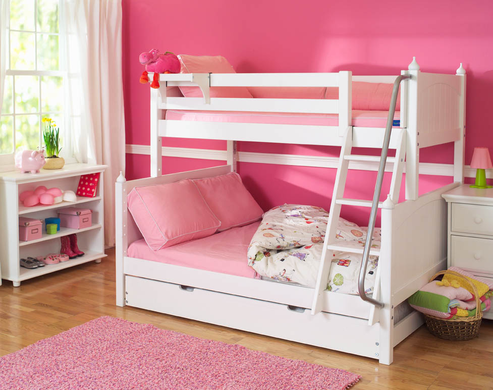 White Twin Over Full Bunk Beds By Maxtrix Kids 830