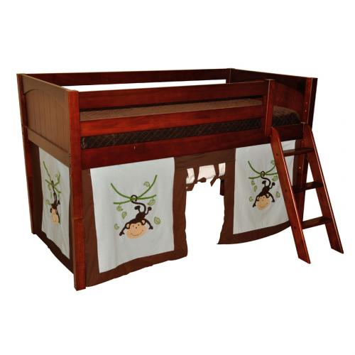 Applique Monkey Tent w/ Maxtrix Kids Loft or Bunkbed Thumbnail ...  sc 1 st  Sweet Retreat Kids & Applique Monkey Tent w/ Maxtrix Kids Loft or Bunkbed