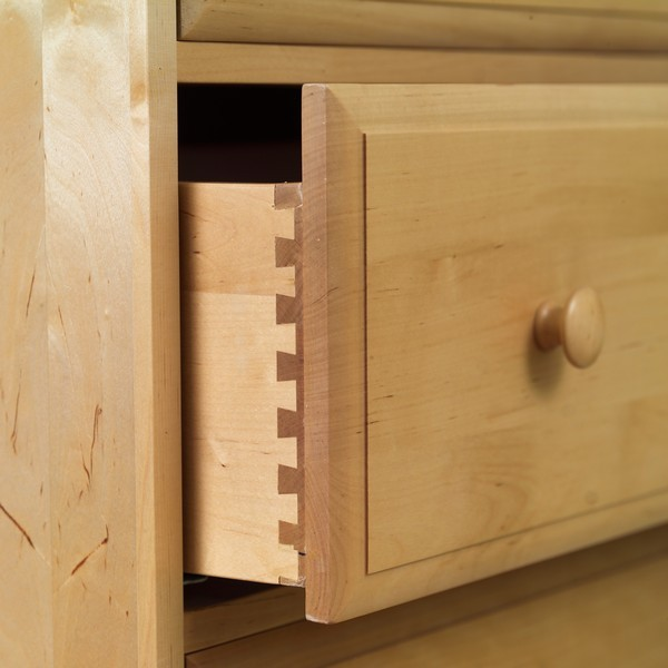 Basic 4 1/2 Drawer Dresser by Maxtrix Kids (shown in natural) Thumbnail 1