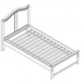 Twin Platform Bed by Maxtrix Kids: White, Curved