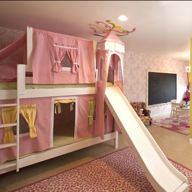 maxtrix castle bunk bed with slide. Black Bedroom Furniture Sets. Home Design Ideas