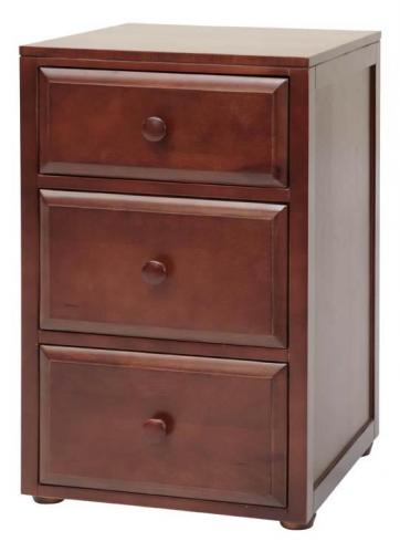 Basic 3 Drawer Nightstand by Maxtrix Kids (shown in chestnut) Thumbnail
