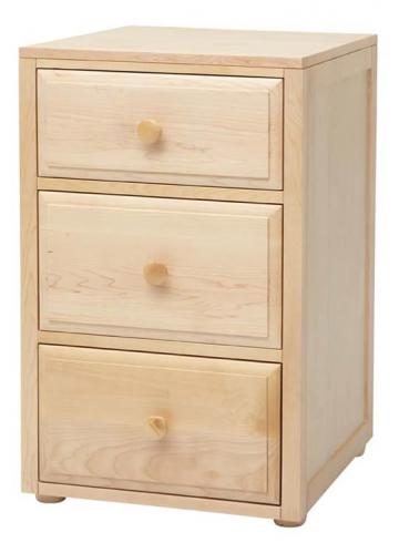 Basic 3 Drawer Nightstand by Maxtrix Kids (shown in natural) Thumbnail