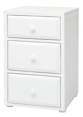 Basic 3 Drawer Nightstand by Maxtrix Kids (shown in white) Thumbnail