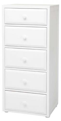 Basic 5 (1/2) Drawer Dresser by Maxtrix Kids (shown in white) Thumbnail