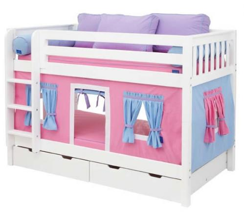 Hot Pink Playhouse Bunk Bed by Maxtrix Kids (700.1)