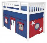Boys Tent MID Loft Bed by Maxtrix Kids (blue/red on white) (400.1)