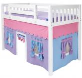 MID Loft Bed with Tent by Maxtrix Kids (purple/blue/pink on white) (400.1)