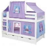 Purple Play Tent Bunk Bed on White by Maxtrix Kids (700.2)
