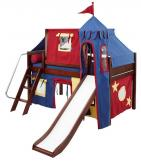 Circus Fun Bed with Slide by Maxtrix Kids (blue/red/yellow) (370)