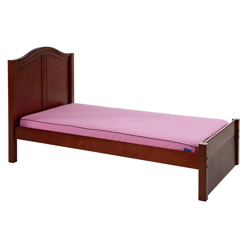 Platform Bed in Chestnut with Curved Bed Ends by Maxtrix (200) Thumbnail 1