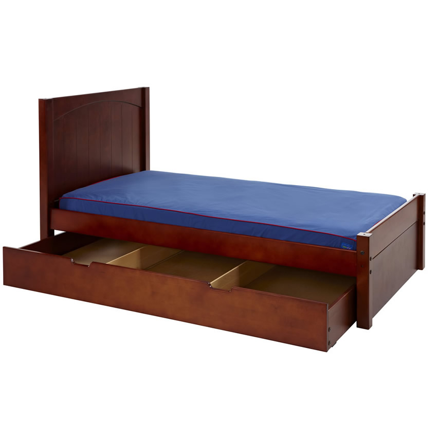 Platform Bed in Chestnut with Panel Bed Ends by Maxtrix (200) Thumbnail 2
