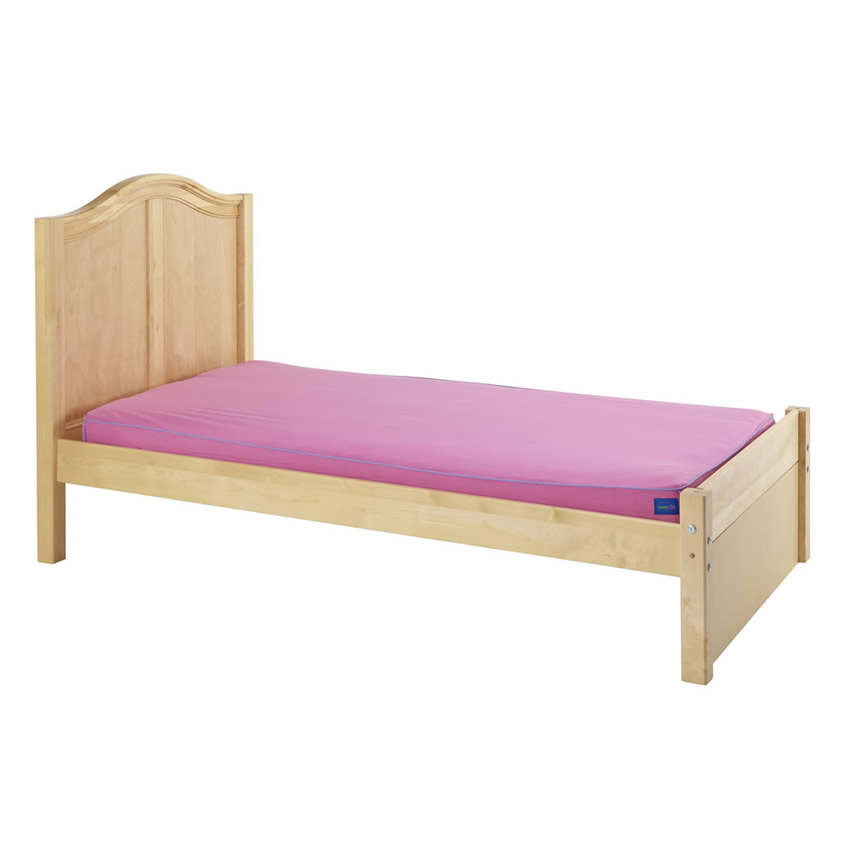 Platform Bed in Natural with Curved Bed Ends by Maxtrix (200) Thumbnail 1