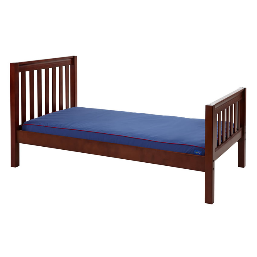 Twin Bed in Chestnut with Slat Bed Ends by Maxtrix (210) Thumbnail 2