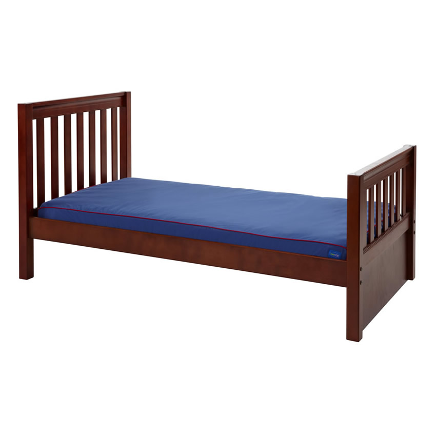 Twin Bed in Chestnut with Slat Bed Ends by Maxtrix (210) Thumbnail 1