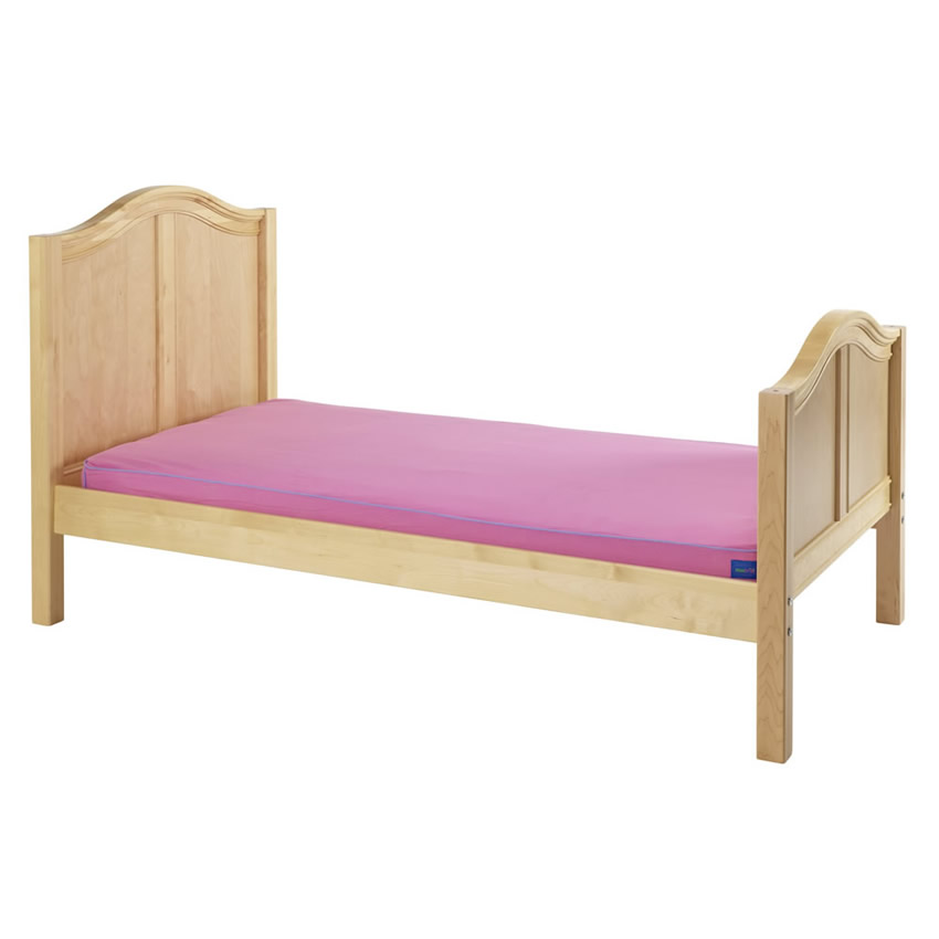 Twin Bed in Natural with Curved Bed Ends by Maxtrix (210) Thumbnail 2