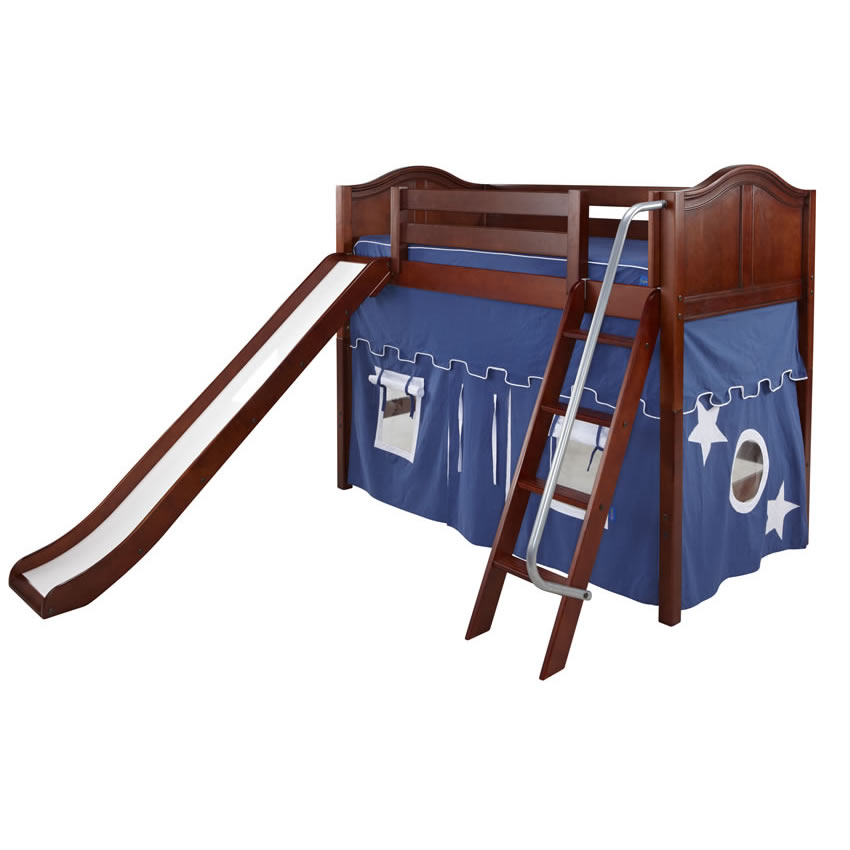 Sweet Blue and White Playhouse Mid Loft with slide by Maxtrix (420.1) Thumbnail 1