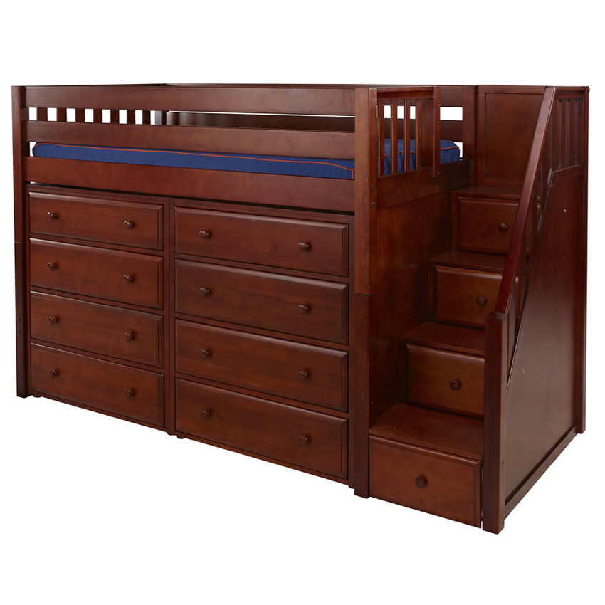 Galant 3 Storage Bed in Chestnut by Maxtrix (640) Thumbnail 1