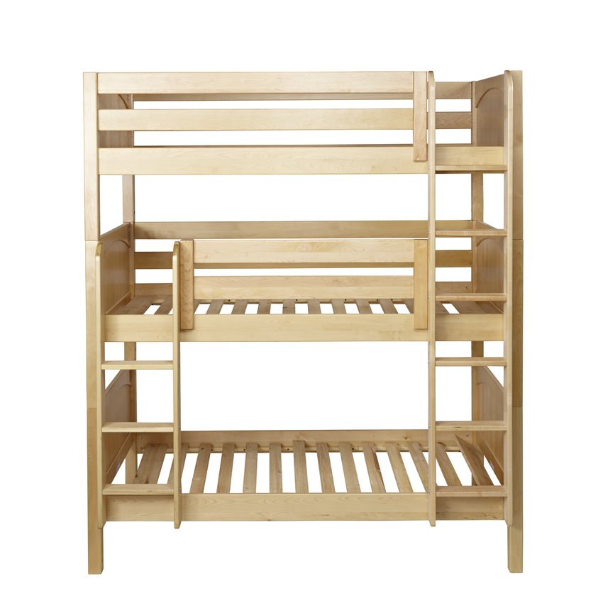 Maxtrix HOLY Triple Bunk Bed in Natural with Panel Bed Ends (850) Thumbnail 3