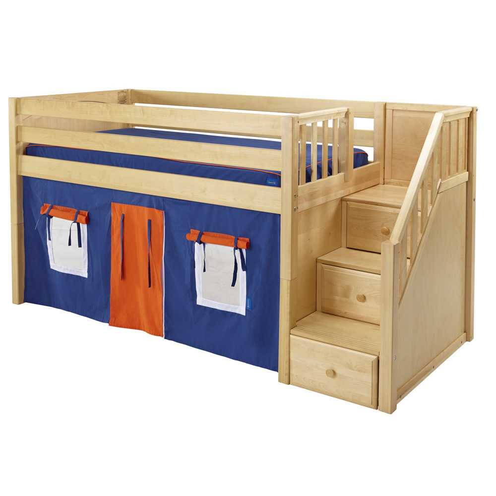 loft bed with stairs. catalina stair loft bed pottery barn kids