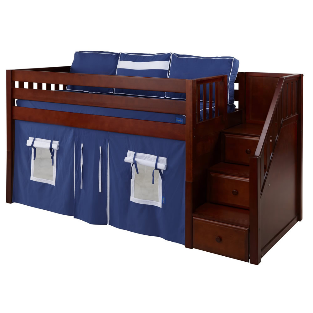 kids loft bed with stairs. Plain With Maxtrix Great Playhouse Loft Bed In Chestnut W Stairs Slat Ends  3051 To Kids With A