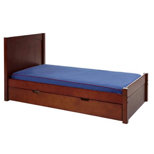 Platform Bed in Chestnut with Panel Bed Ends by Maxtrix (200) Thumbnail