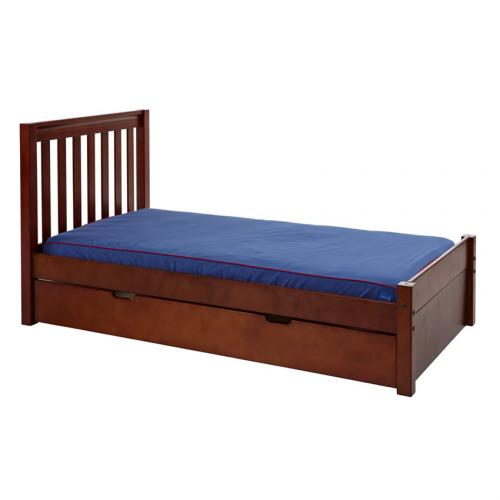 Platform Bed in Chestnut with Slat Bed Ends by Maxtrix (200) Thumbnail