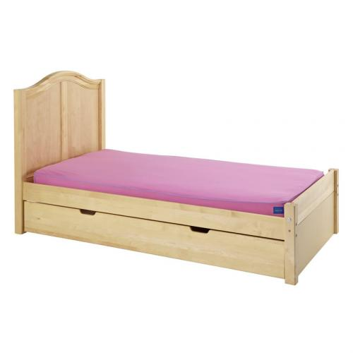 Platform Bed in Natural with Curved Bed Ends by Maxtrix (200) Thumbnail