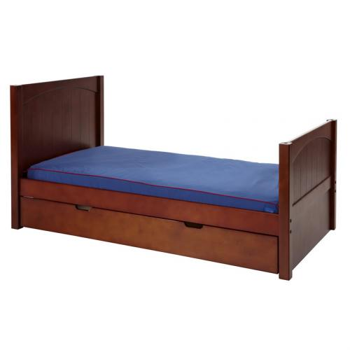 Twin Bed in Chestnut with Panel Bed Ends by Maxtrix (210) Thumbnail