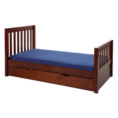 Twin Bed in Chestnut with Slat Bed Ends by Maxtrix (210) Thumbnail