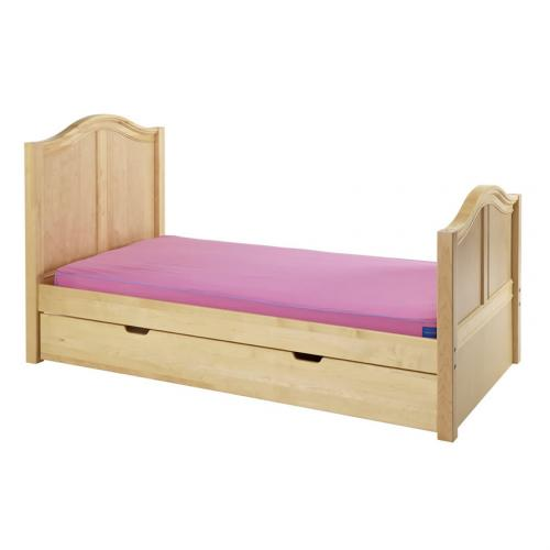 Twin Bed in Natural with Curved Bed Ends by Maxtrix (210) Thumbnail