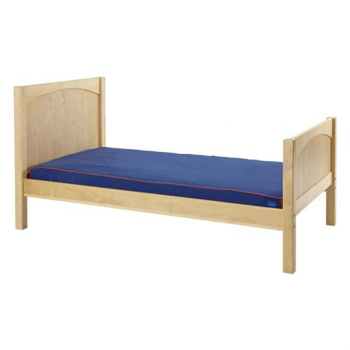 Twin Bed in Natural with Panel Bed Ends by Maxtrix (210)
