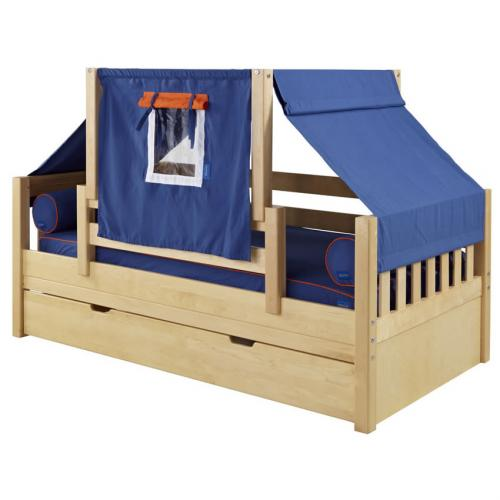 Blue and White YO Mini Tent Bed in Natural by Maxtrix (250)