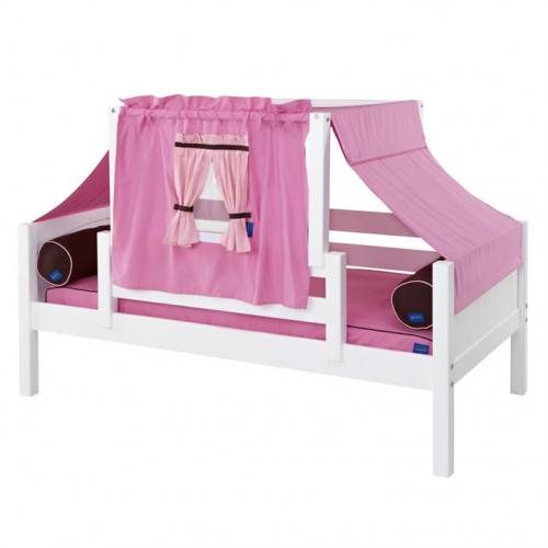 Pink and Brown YO Mini Tent Bed in White by Maxtrix (250)