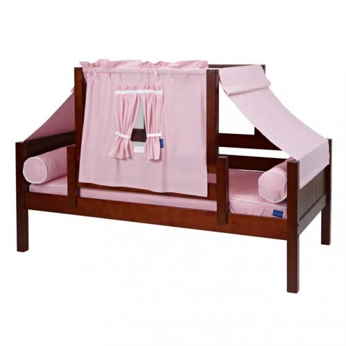 Pink and White YO Mini Tent Bed in Chestnut by Maxtrix (250)