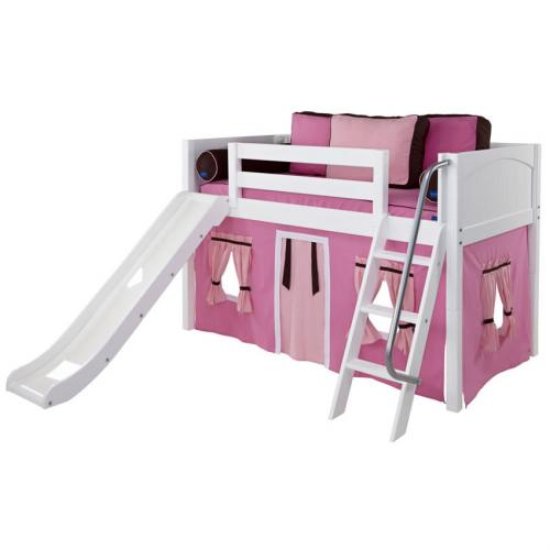 Maxtrix Pink and Brown Marvelous Tent Bed with Panel Bed Ends (320.1)