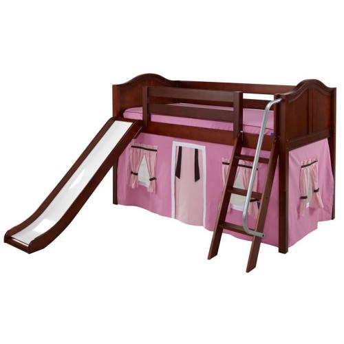 Maxtrix Pink and Brown Tent Bed in Chestnut with Curved Bed Ends (320.1) Thumbnail