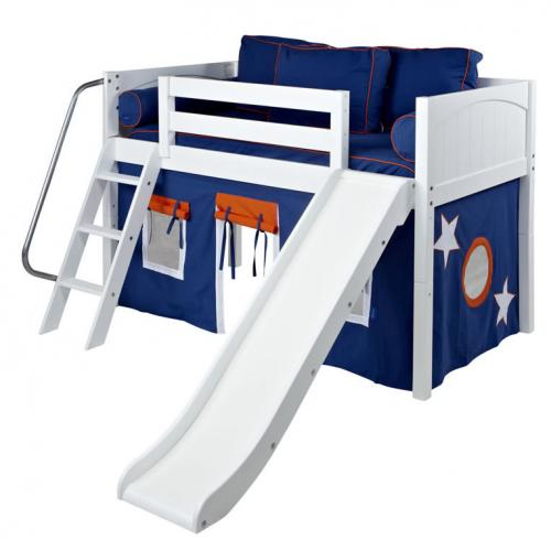 Maxtrix Blue and Orange Tent Bed in White (320.1)