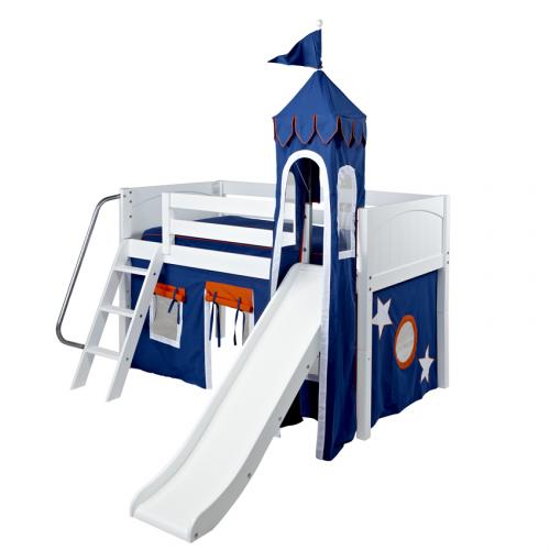 Blue and White Mini Castle Bed by Maxtrix (360)