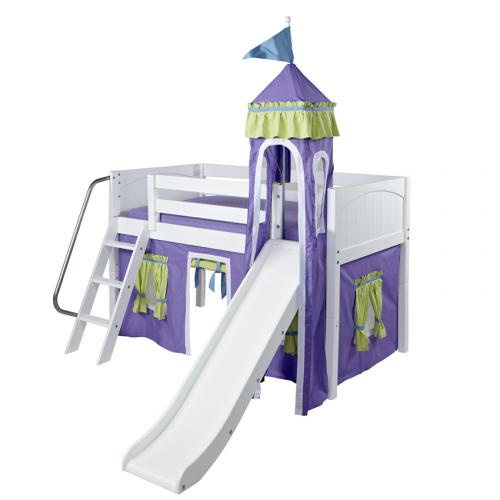 Purple and Green Mini Castle Bed by Maxtrix (360)