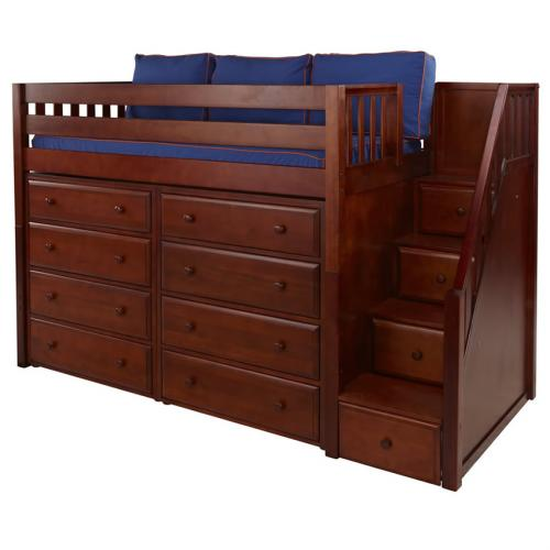 Galant 3 Storage Bed in Chestnut by Maxtrix (640) Thumbnail