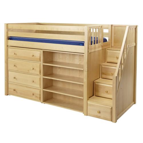 Maxtrix Galant Storage Bed W Dresser Amp Bookcase In
