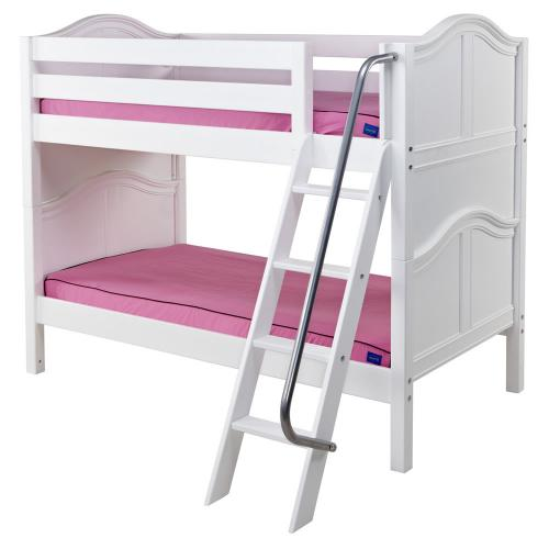 Hot Hot Low Bunk Bed by Maxtrix Kids: White, Curved, Twin Thumbnail