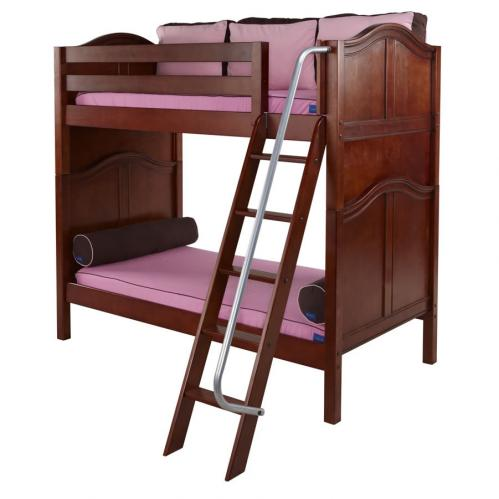 Venti High Bunk Bed by Maxtrix Kids: Chestnut, Curved, Twin