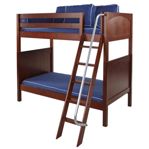 Venti High Bunk Bed by Maxtrix Kids: Chestnut, Panel, Twin