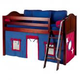 Red and Blue Easy Rider Tent Bed in Chestnut by Maxtrix (300.1)