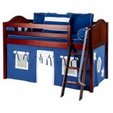 Blue and White Easy Rider Tent Bed in Chestnut by Maxtrix (300.1)