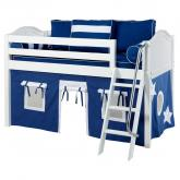 Blue and White Easy Rider Tent Bed in White by Maxtrix (300.1)